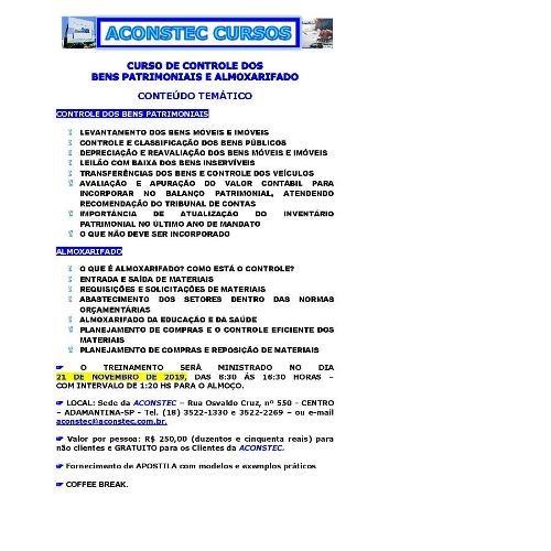 ACONSTEC CURSOS